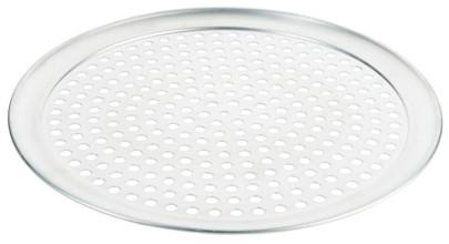 Contacto Gelochtes Pizzablech 36 cm, Aluminium, 10 mm Lochdurchmesser, Backblech