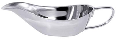 Contacto Sauciere ohne Fuß aus Edelstahl 18/10, 100 ml, 19 x H 5 cm, hochglänzend, schwere Qualität
