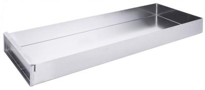 Contacto Schnittkuchenblech 58x10x5 cm Aluminium, mit Vorsatzschiene