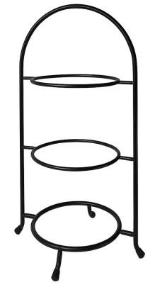 Contacto Telleretagere, schwarz für Teller 17,5 bis 23 cm, dreistufig, Stahldraht, schwere Ausführung