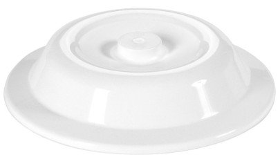 Contacto Tellerglocke 24,3 cm weiß mit Griffknopf, Höhe 50 mm