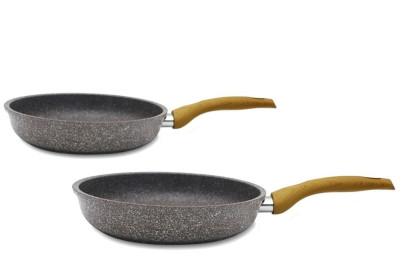 "culinario 2er Set Bratpfannen ""Stonewood"" Ø24/28 cm, Antihaft-beschichtet, Induktionsgeeignet"