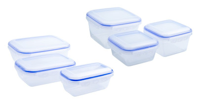 culinario 6er Set Frischhaltedosen von 800 ml bis 2500 ml