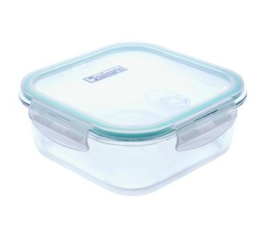 2 Stück culinario Cloc Frischhaltedose aus Glas, 1200 ml, quadratisch, Glas bis 400°C 1200   Anzahl: 2 Stück