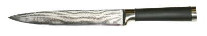 culinario Damastmesser, Damaszener Schneidemesser mit Soft-Touch-Griff, 32,5 cm, Klingenlänge 20,5 cm