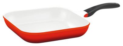 culinario Grillpfanne, 28 x 28 cm, rot, antihaft-cerathermplus-Beschichtung und induktionsgeeignet rot