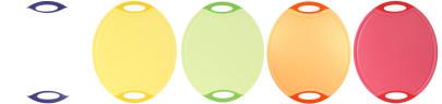 culinario Schneidebrett pelago, oval, verschiedene Farben und Größen