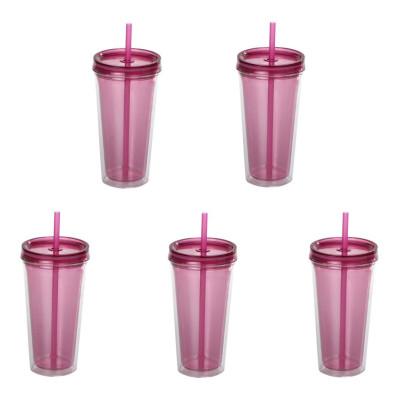 5 Stück culinario Trinkbecher Ice Mug, Thermobe...