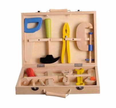 Egmont Toys Kinder-Werkzeugkasten, Holzwerkzeug...