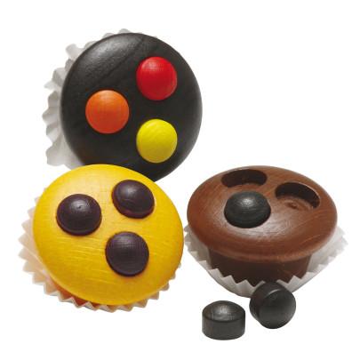 Erzi Muffins, Spielzeug-Muffins, Holz-Muffins, ...