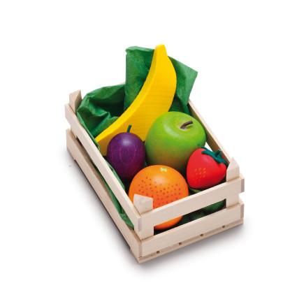 Erzi Sortiment in der Holzsteige Obst, klein, S...