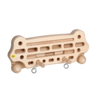 Erzi Trainingsboard medium, für Finger-/Arm-/Oberkörper, ideales Trainingsgerät für Kletter-/Fitnesssport, inkl. Übungsposter, Maße 66,5 x 32 x 6 cm
