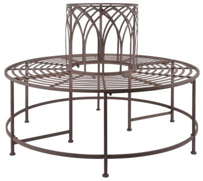 Esschert Design Baumbank aus Metall, 120 x 120 ...