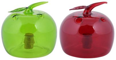 Esschert Design Fruchtfliegenfalle in Apfelform, 9,4 x 9,4 x 9,4 cm, farbig sortiert in grün und rot, ungiftige Falle