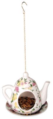 Esschert Design Futterkanne hängend für Vogelfutter, sortiert, 1 Stück, ca. 16 cm x 14 cm x 14 cm