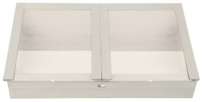 Esschert Design Gewächskasten, Gewächshaus in weiß, ca. 117 cm x 60 cm x 41 cm weiß