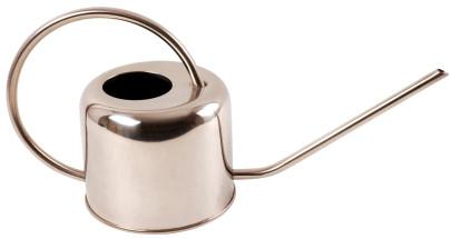 Esschert Design Gießkanne, Wasserkanne in Chrom aus Stahl, schlankes Design, 1 Liter, ca. 36 cm x 13 cm x 18 cm 1000 | Anzahl: 1 Stück