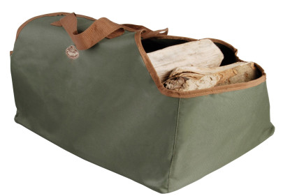 Esschert Design Brennholztasche in grün, 59 x 40 x 39 cm Anzahl: 1 Stück