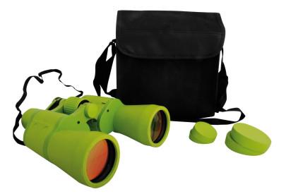 Esschert Design Kinderfernglas mit eingebautem Kompass, bis 7-fache Vergrößerung, Fernglas für Kinder mit Tasche und Schutzkappen