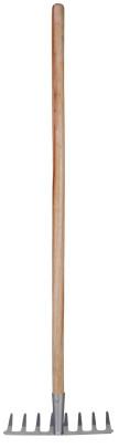 Esschert Design Kinderharke, Kinderrechen mit Holzstiel, ca. 21 cm x 8,2 cm x 81 cm, verschiedene Farben
