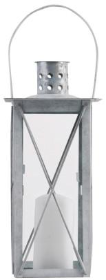 Esschert Design Laterne, Windlicht Farol in grau aus verzinktem Metall, eckig, verschiedene Größen