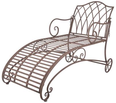 Esschert Design Liegestuhl aus Metall, 70 x 145 x 90 cm, in klassischer Optik, sehr stabil