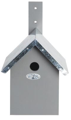 Esschert Design Nistkasten, Vogelhaus für Blaumeisen in grau, ca. 19 cm x 18 cm x 31 cm grau/silber | Anzahl: 1 Stück
