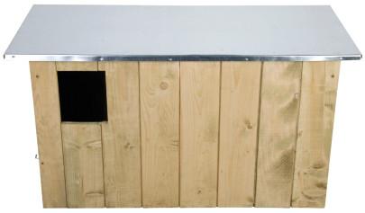 Esschert Design Nistkasten, Vogelhaus Schleiereulen aus Holz, ca. 86 cm x 37 cm x 44 cm Anzahl: 1 Stück