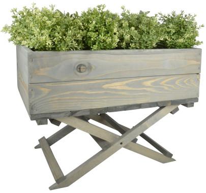 Aufbewahrungsbox aus Holz, bepflanzbar, grau, 2er-Set (Kopie) Danto (Kopie)