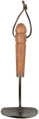 Esschert Design Schmiedeeiserne Handhacke mit Holzgriff, 18 x 11 x 27 cm, mit Hängeöse, ergonomischer Griff