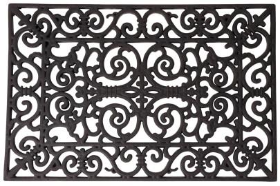 Esschert Design Schmutzfangmatte, Fußmatte in schwarz aus Gummi, rechteckig, Größe L, ca. 70 cm x 40 cm 700 | eckig