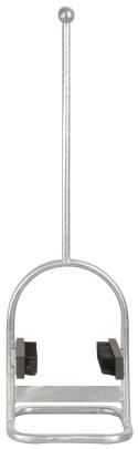 Esschert Design Schuhschaber & Bürste aus verzinktem Metall PP,23,4 x 19,3 x 78,5 cm