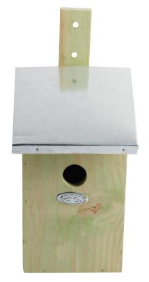 Esschert Design Spiegelnistkasten, Vogelhaus mit Spiegel, ca. 17 cm x 20 cm x 33 cm Anzahl: 1 Stück