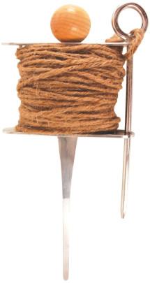 Esschert Design Stecker mit Pflanzleine, Beetbegrenzung, ca. 12 cm x 5,2 cm x 27 cm Anzahl: 1 Stück