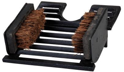 Esschert Design Stiefelknecht, mit 2 Schuhbürsten, Schuhabstreifer, Klassik Design, aus Gusseisen, Maße 22 x 25,5 x 12 cm