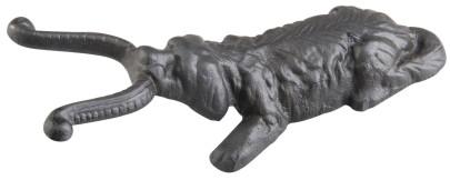 Esschert Design Stiefelknecht aus Gusseisen,Motiv Hund, 12 x 27 x 7,8 cm Hund