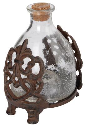 *NEU*: Wespenfalle aus Glas in Gestell, rostbraun