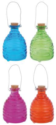 *NEU*: Wespenfalle aus Glas mit Henkel, bunt