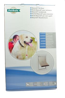 Flamingo Staywell 660 Hundeklappe für große Hunde, mit Aluminiumrahmen, Maße: ca. 69,3 cm x 41,7 cm