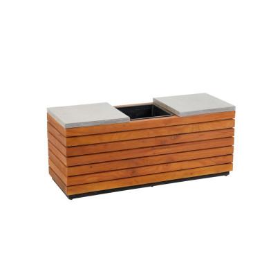 *NEU*: Gartenbank aus Akazienholz, inklusive Pflanzkübel, braun