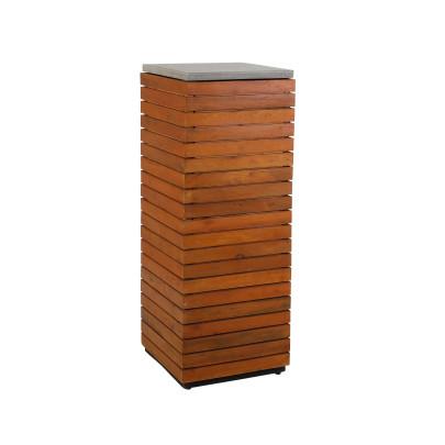 *NEU*: Deko-Säule aus recyceltem Akazienholz, rotbraun