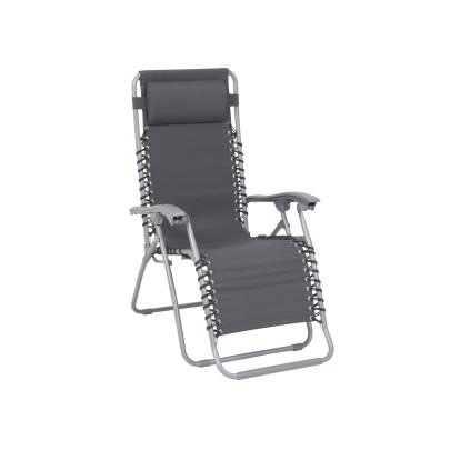 Greemotion Liege Teramo mit Kopfpolster, Relaxsessel, verstellbare Rückenlehne, 65x112x90-155cm, klappbar, Stahl/Textilene, verschiedene Ausführungen