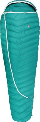 Grüezi bag Biopod DownWool Extreme Light 175 Allround-Sommerschlafsack, 200x770cm, bis Körpergröße 175 cm, Tkomf 12°C/Tlim 8°C, Packmaß Ø 13 x 17cm