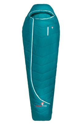 Grüezi bag Synpod Island 185 Leichter Schlafsack, für Körpergröße bis 185 cm, Mikrofaser-Füllung, 1050g, 215x80x50 cm, Packmaß Ø 18x22 cm