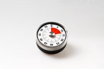 GSD Kurzzeitmesser, 60 min., mit Restlaufanzeige, aus Edelstahl, Ø 8 x 3,2 cm