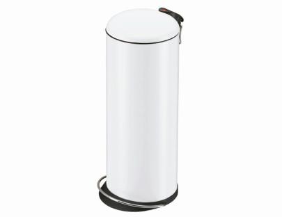 HAILO Tret-Abfalleimer 26 Liter weiß Metalldeckel und Metalleinsatz