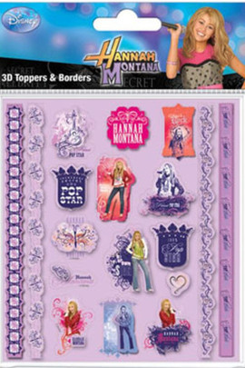 Hannah Montana Sticker Set 3D Toppers & Borders
