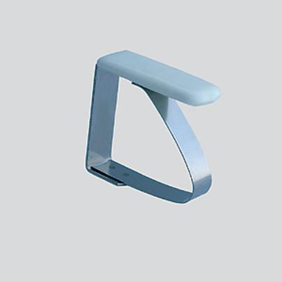 homiez Tischtuch-Federklammer, Tischtuchhalter, aus Edelstahl, klein, für Tischplatten bis 27 mm für Tischplatten bis 27 mm