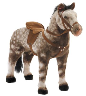Spielzeug Pferd Apfelschimmel, mit Sound, Satte...