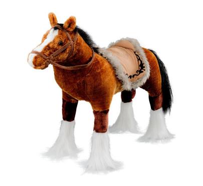 Happy People Spielzeug Pferd in braun, mit Sound, Sattelhöhe ca. 51 cm ohne Extras